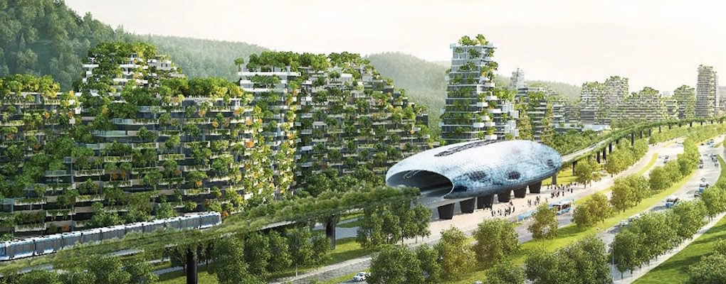 Futuristic green city in china madan for Liuzhou forest city